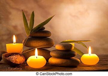 蜡烛, 生活, 仍然, 芳香, spa