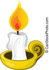 蜡燭和支持物