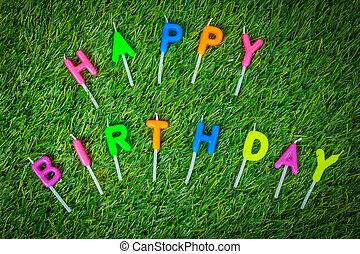 蜡燭, 生日, 愉快, 鮮艷, 領域