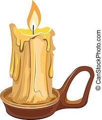 蝋燭の 立場, 燃焼, ワックス