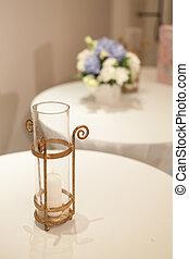 蝋燭, そして, vases.