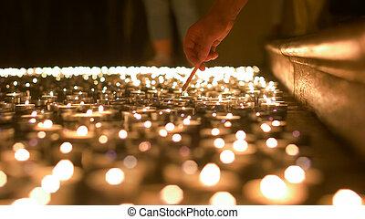 蝋燭, つくこと, 祈とう