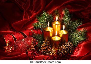 蝋燭, クリスマス