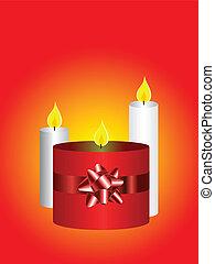 蝋燭, クリスマス, backgroun