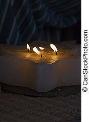 蝋燭, 中に, ∥, 教会