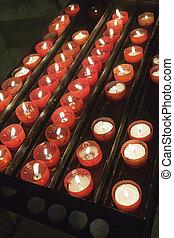 蝋燭, 中, 教会