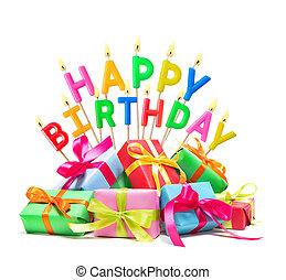 蝋燭, 幸せ, 贈り物, birthday, 燃焼, 箱