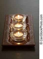 蝋燭, 横列