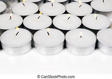 蝋燭, 白い背景, 燃焼