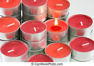蝋燭, 白い赤, 背景
