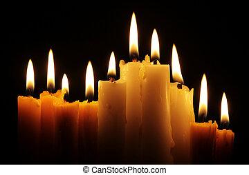 蝋燭, 線, 燃焼