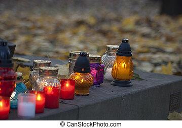 蝋燭, 記念, 聖者, すべて, 日