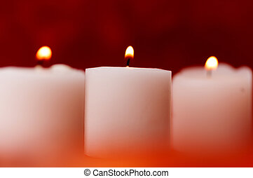 蝋燭, 3, 背景, 赤