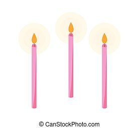 蝋燭, birthday, セット, アイコン