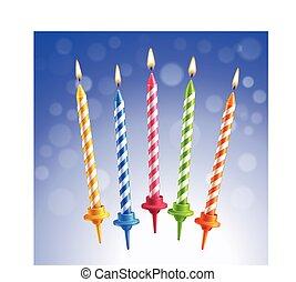 蝋燭, birthday, セット