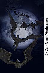 蝙蝠, 生物, 侵略