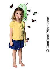 蝴蝶, 抓住