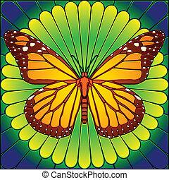 蝴蝶, 沾污玻璃