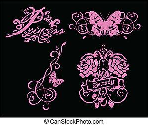 蝴蝶, 符號, 花