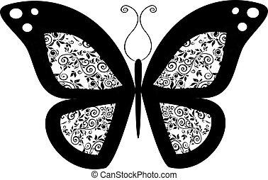 蝴蝶,  3, 矢量
