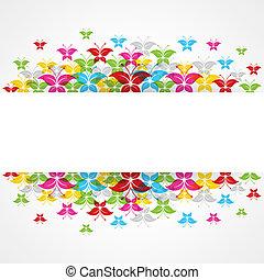 蝶, カラフルである, 抽象的なデザイン
