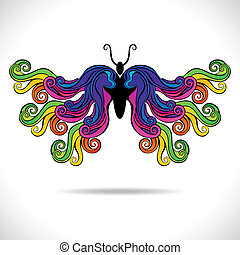 蝶, カラフルである, 抽象的