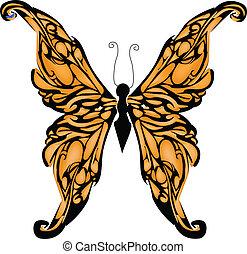 蝶, グラフィック, ベクトル