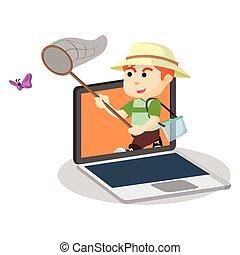 蝶, ゲーム, つかまえること, オンラインで