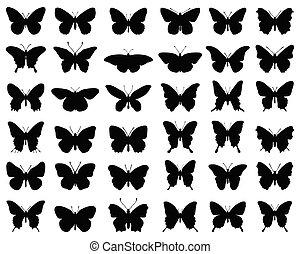 蝶, シルエット