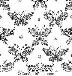 蝶, パターンデザイン, あなたの