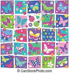 蝶, パターン, コレクション