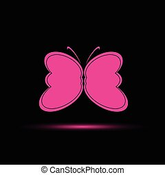 蝶, ピンク, ベクトル, 色