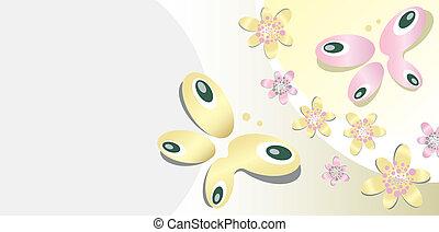 蝶, モチーフ, 背景