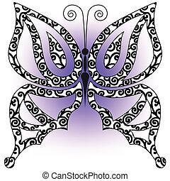 蝶, ライラック, 背景