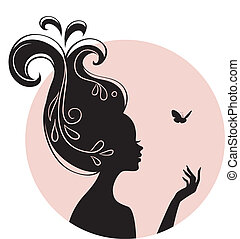 蝶, 女, 美しさ