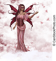 蝶, 妖精