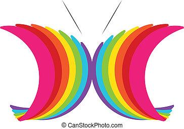 蝶, 抽象的なデザイン, カラフルである
