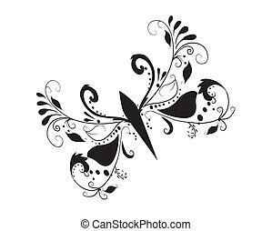 蝶, 抽象的