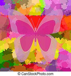 蝶, 明るい, 背景