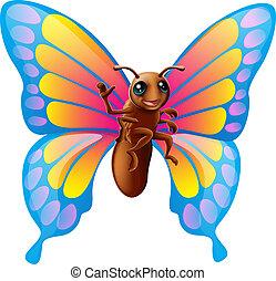 蝶, 漫画, かわいい