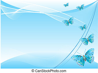 蝶, 背景, 抽象的