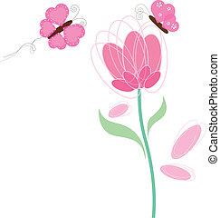 蝶, 花, デザイン