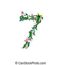 蝶, 花, 数