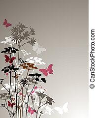 蝶, 野生の花