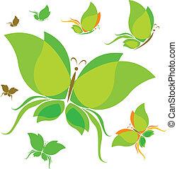 蝶, concep, エコロジー, デザイン