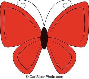 蝶, illustration., 色, ∥あるいは∥, ベクトル, 美しい