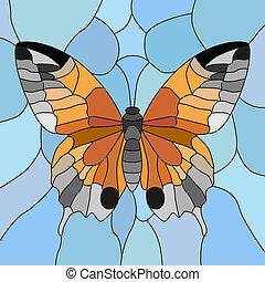 蝶, mosaic., ベクトル