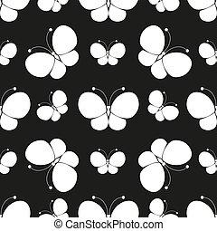 蝶, pattern., シルエット