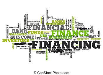 融資, 単語, 雲