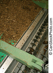 螺旋轉, 在, biogas, 植物